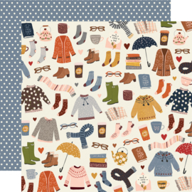 """Cozy Days Sweaters & Boots Double Sided 12x12"""""""