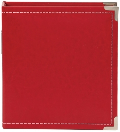 "Sn@p 6x8"" Leather Binder Red"