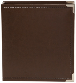 "Sn@p 6x8"" Leather Binder Brown"