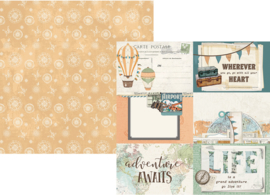 Simple Vintage Traveler  4x6 Elements Double Sided 12x12""