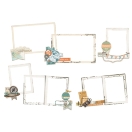 Simple Vintage Traveler Chipboard Layered Frames