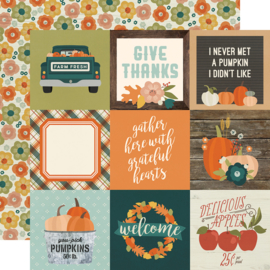 Fall Farmhouse 4x4 Elements Double Sided 12x12""
