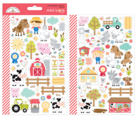 Down on the Farm Mini Icon Stickers
