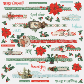 Country Christmas Border Stickers Sheet