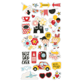 Say Cheese 4 6x12 Chipboard Stickers
