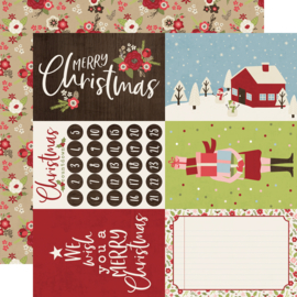 Holly Jolly 4x6 Elements Double Sided 12x12""