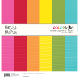 Color Vibe Textured Cardstock Kit - Brights