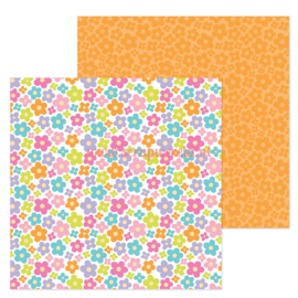 "Pop of Posies 12x12"" Double Sided Cardstock"