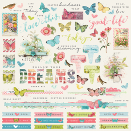 Simple Vintage Botanicals Combo Stickers Sheet