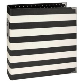 Sn@p 6x8 Designer Binder Black Stripe