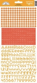 Teensy Type Cardstock Stickers Tangerine