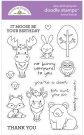 Forest Friends Doodle Stamps