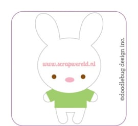 Bunnies Sweet Rolls Mini Icon Stickers