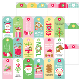 "Christmas Tags  12x12"" Double Sided"