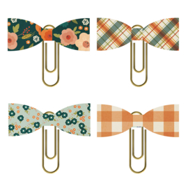 Fall Farmhouse Bow Clips