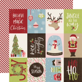 Holly Jolly 3x4 Elements Double Sided 12x12""