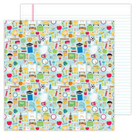 School Days double-sided cardstock