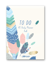 Daily Planner Pad Feathers