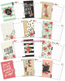A5 Bloom Monthly Planner inserts