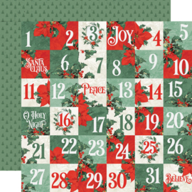 Country Christmas 2x2 Elements Double Sided 12x12""
