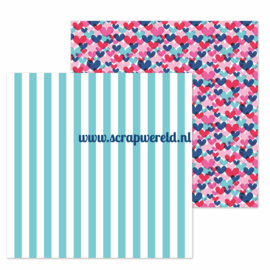 "French Cafe Double Sided 12x12"" Cardstock"