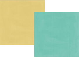 Heart Simple Basics Teal/Gold Double Sided 12x12""