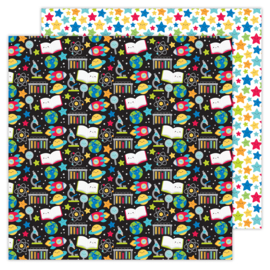 School Days Scientific double-sided cardstock