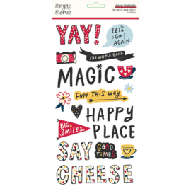 Say Cheese Main Street - Foam Stickers