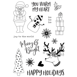 Holly Jolly 4x6 Stamps