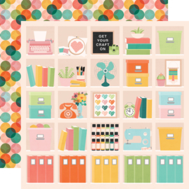 Hey, Crafty Girl Happy Place Double Sided 12x12""