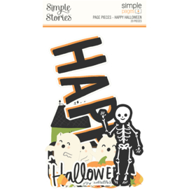 Simple Pages Page Pieces - Happy Halloween