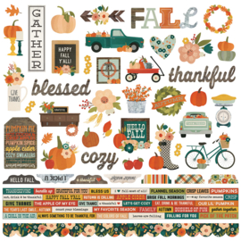 Fall Farmhouse Combo Stickers