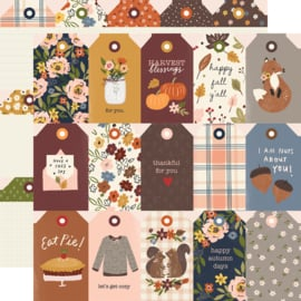 """Cozy Days Tags Double Sided 12x12"""""""