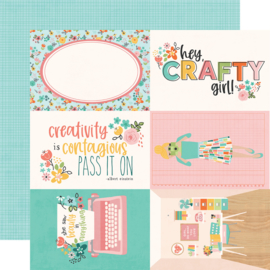 Hey, Crafty Girl 4x6 Elements Double Sided 12x12""