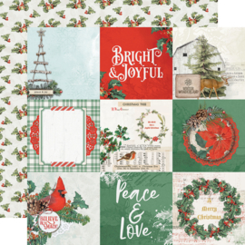 Country Christmas 4x4 Elements Double Sided 12x12""