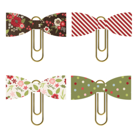 Holly Jolly Bow Clips