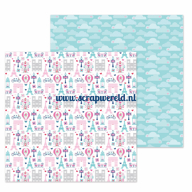 "City of Love Double Sided 12x12"" Cardstock"