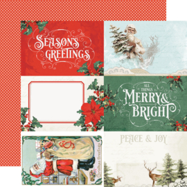 Country Christmas 4x6 Elements Double Sided 12x12""