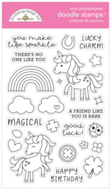 Rainbows & Unicorns Doodle Stamps