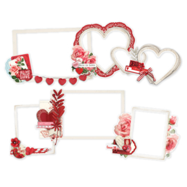 My Valentine Chipboard Layered Frames