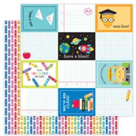 School Days Color me Happy double-sided cardstock