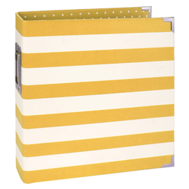 Sn@p 6x8 Designer Binder Yellow Stripe