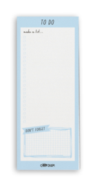 Magnetic To Do List Sky Blue