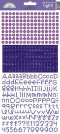Teensy Type Cardstock Stickers Lilac