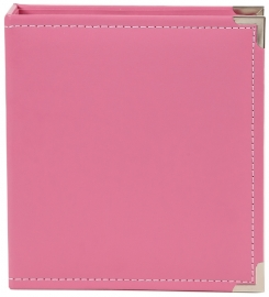 "Sn@p 6x8"" Leather Binder Pink"