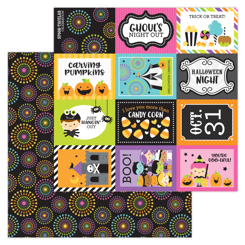 """Spook-tacular 12x12"""" Double Sided 12x12"""""""