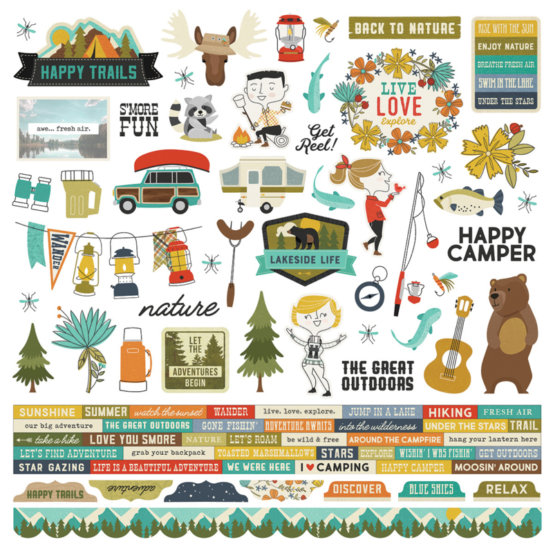 Happy Trails Combo Stickers