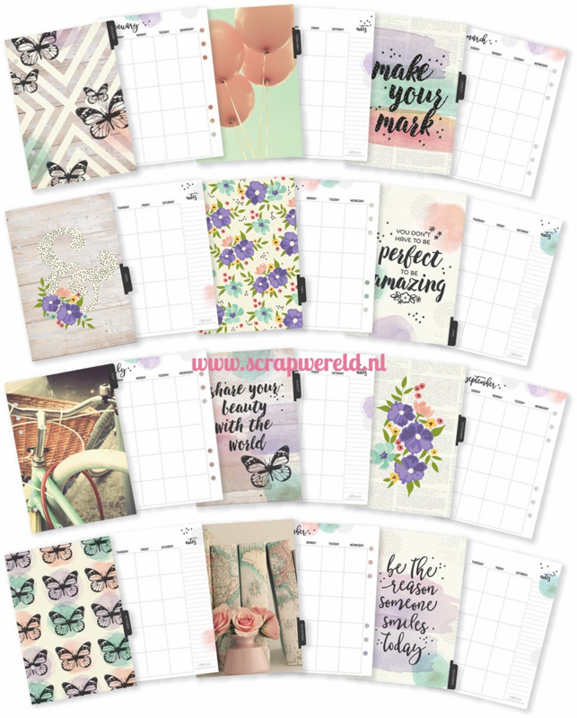A5 Bliss Monthly Planner inserts