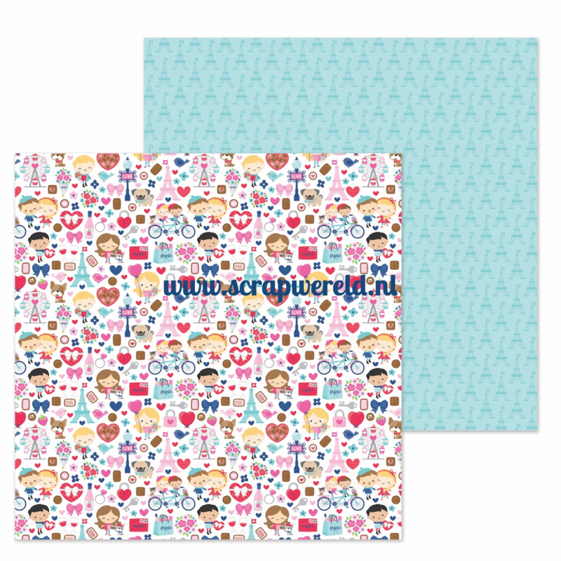 "French Kiss Double Sided 12x12"" Cardstock"