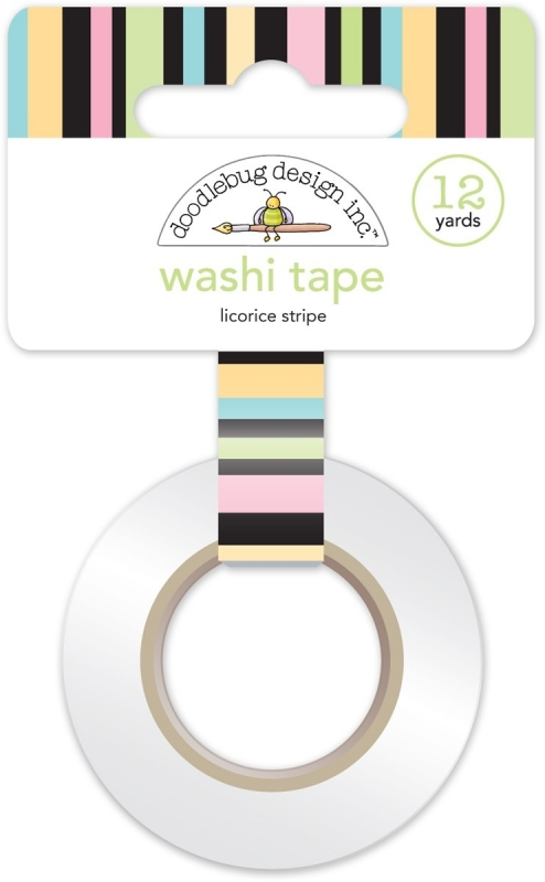 Licorice Stripe Washi Tape